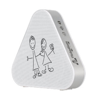 Hand in Hand Lovers Drawing Bluetooth Speaker