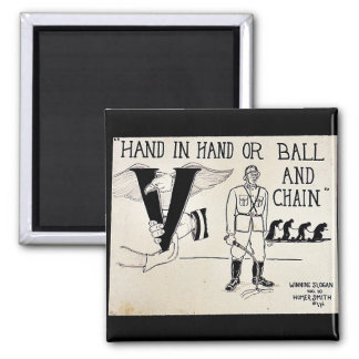 Hand In Hand Or Ball And Chain Fridge Magnets