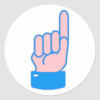 Hand index finger index finger round stickers