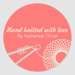Hand knitted knitters gift stickers