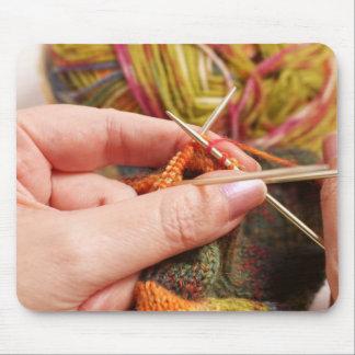 Hand Knitting Mouse Mat