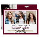 Hand Lettered Graduate | Editable Maroon | 4-Photo Invitation