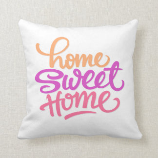 HAND LETTERED HOME SWEET HOME | PILLOW