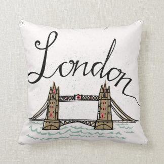 Hand Lettered London Bridge Throw Pillow