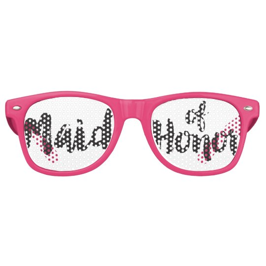 Hand Lettered Maid of Honour Swag Party Glasses