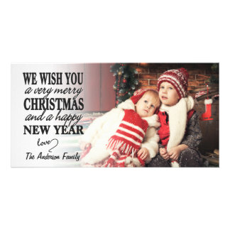 Hand Lettered Merry Christmas Full-Photo Card