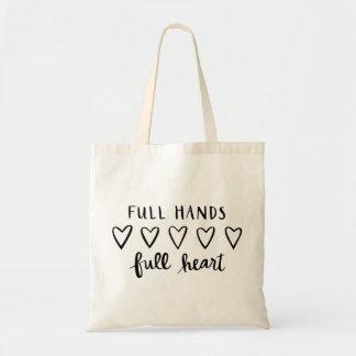 Hand Lettered Reusable Tote for Mom w/Full Hands
