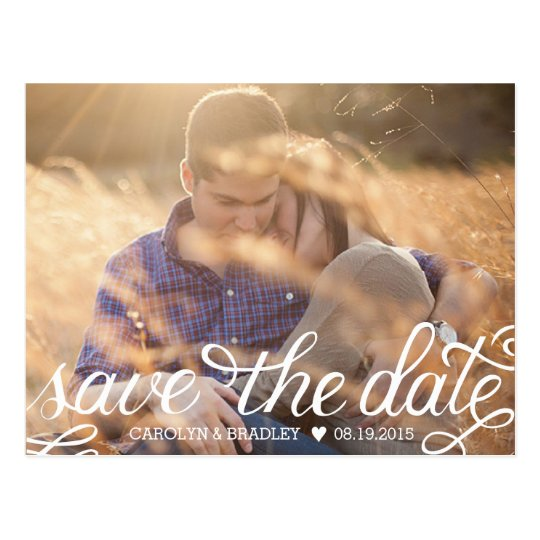 Hand Lettered Save the Date Postcard