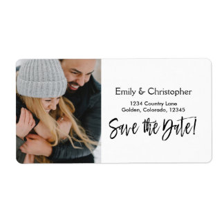 Hand Lettered Script Wedding Save the Date Photo
