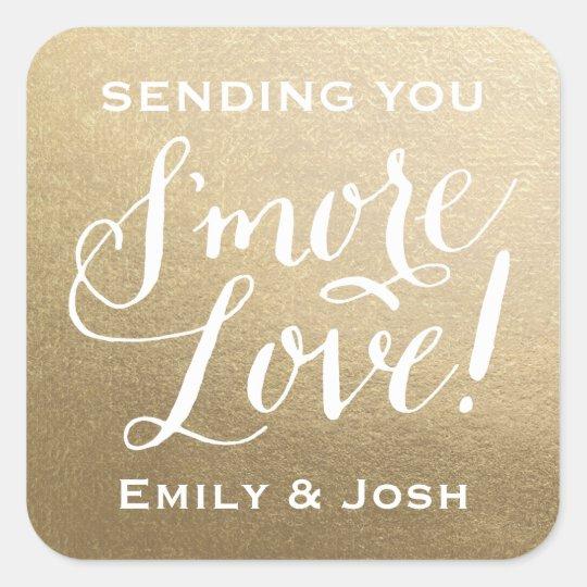 Hand Lettered S'more Love Gold Faux Foil Favour