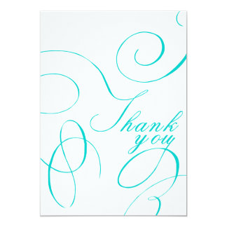 Hand Lettered - Thank you card