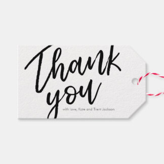 Hand lettered Thank you tags   Favour tags