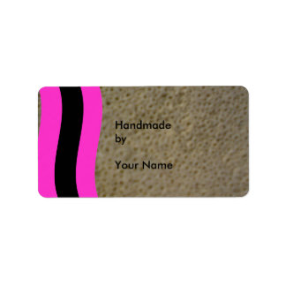 Hand made by template address label
