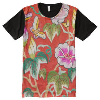 Hand made embroidery All-Over print T-Shirt
