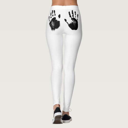 hand made prints leggings