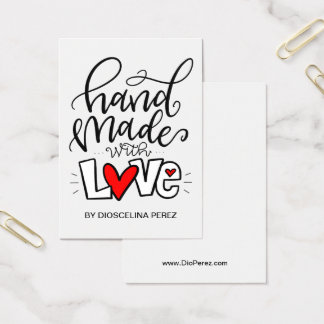 Hand Made With Love, Business Card
