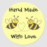 Hand Made with Love - Honey Bees with Heart