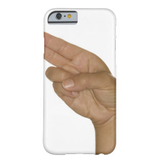 Hand making H sign Barely There iPhone 6 Case