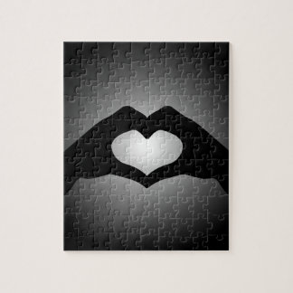 hand making sign Heart Jigsaw Puzzle