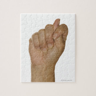 Hand making T sign Jigsaw Puzzle