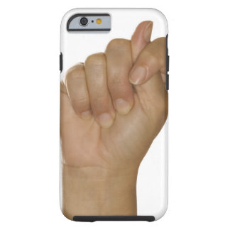 Hand making T sign Tough iPhone 6 Case