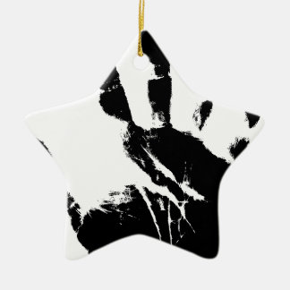 Hand Mark Ceramic Star Decoration