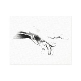Hand od God Canvas Print