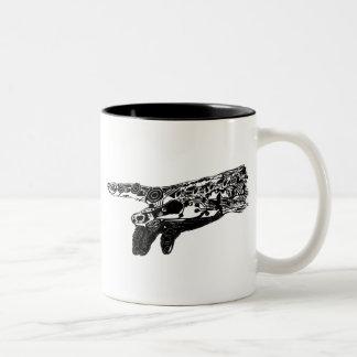 Hand of a Cyborg God? Two-Tone Mug