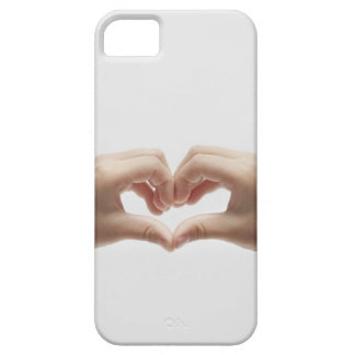 Hand of child who made shape of heart iPhone 5 case