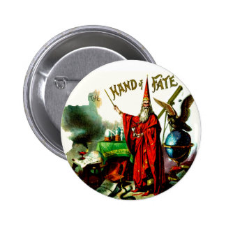 Hand of Fate Wizard Magician Sorcerer Vintage Art 6 Cm Round Badge