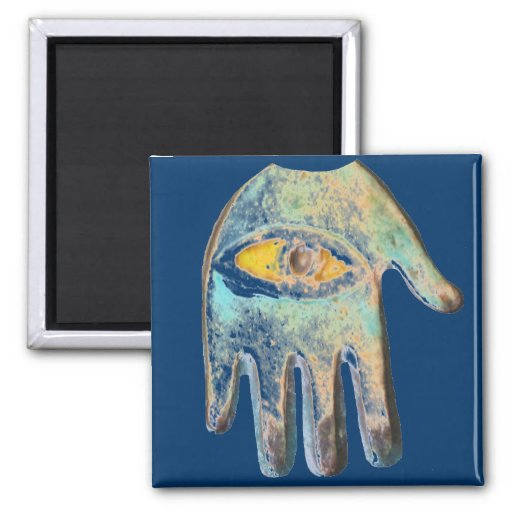 Hand of Fatima,  evil eye protection Refrigerator Magnets