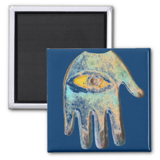 Hand of Fatima,  evil eye protection Square Magnet