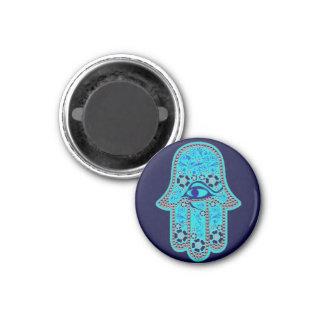 Hand of Fatima hamsa 3 Cm Round Magnet