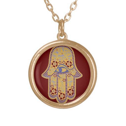Hand of Fatima hamsa necklace