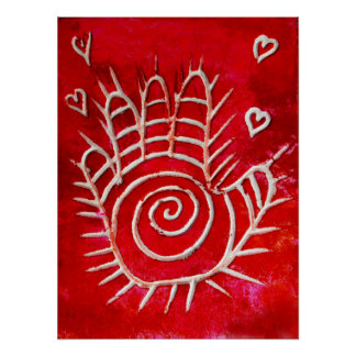 Hand of Fatima - Healing Hands with Love Poster