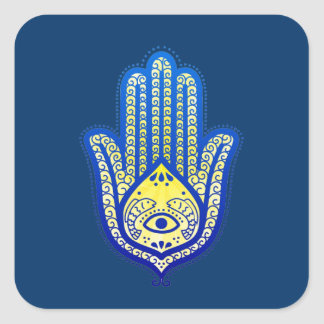 Hand of Fatima Square Sticker