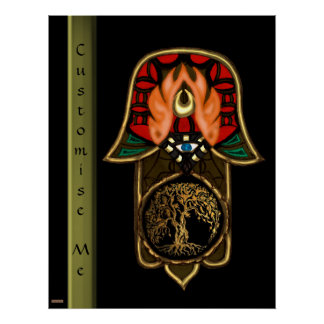 Hand of Hamsa feat: Tree of Life Poster