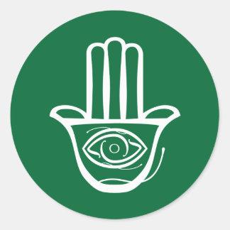 Hand of Miriam (Hamsa) Classic Round Sticker