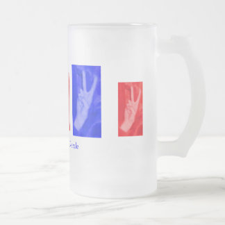 Hand of Peace-Red and Blue Mug