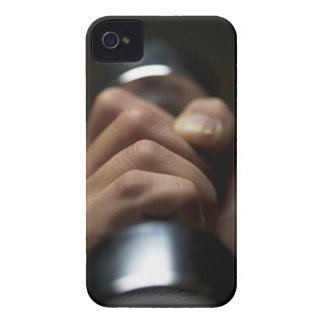 Hand of person lifting weights iPhone 4 case