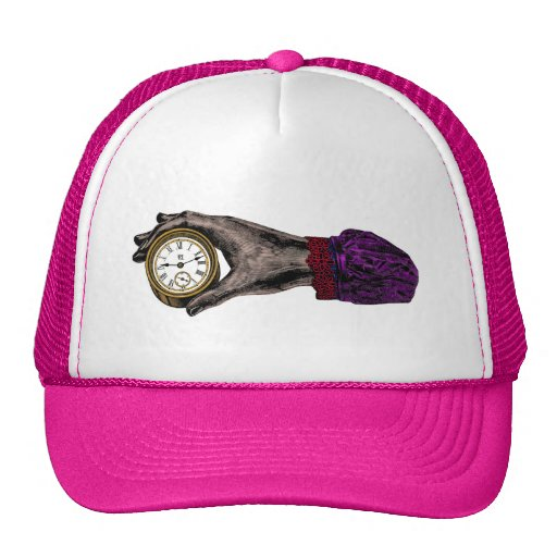 Hand of Time - Vintage Illustration Mesh Hats