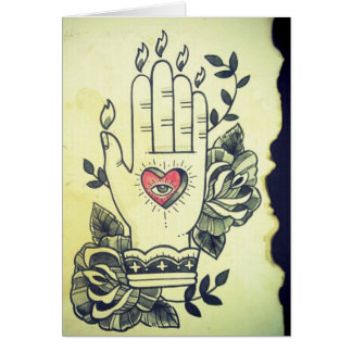 """Hand Of Wisdom"" Card"