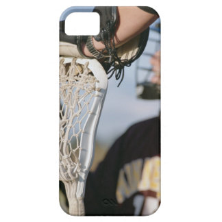 Hand on a Lacrosse Stick iPhone 5 Cases