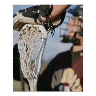 Hand on a Lacrosse Stick Posters