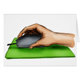 Hand on Mouse Greeting Card
