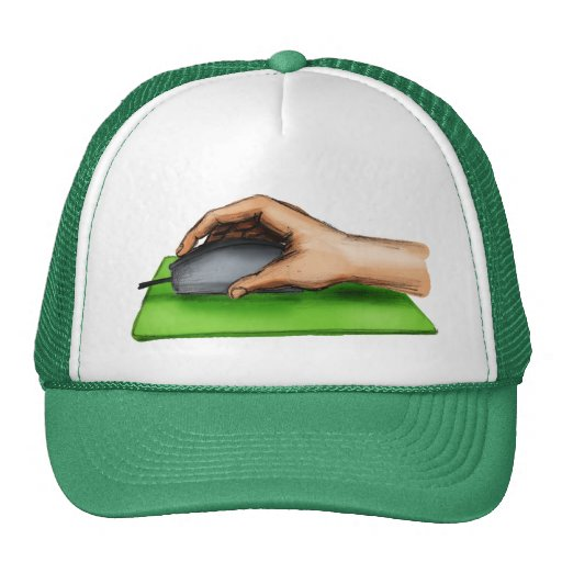 Hand on Mouse Trucker Hat