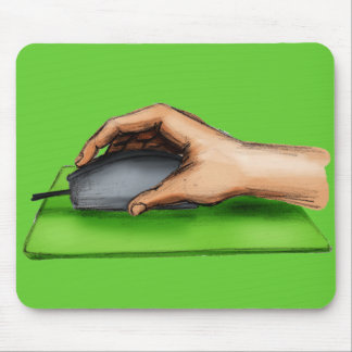 Hand on Mouse Mousepads