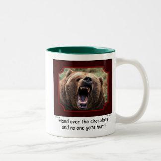 """""""Hand Over The Chocolate"""" Bear Mug"""