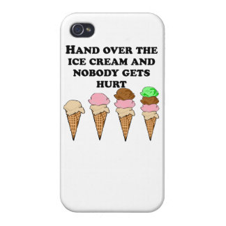 Hand Over The Ice Cream iPhone 4/4S Covers