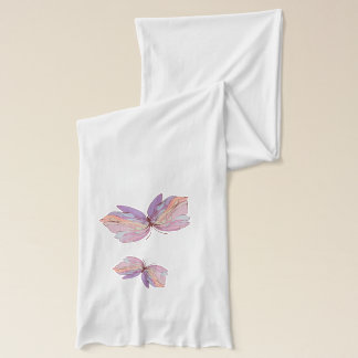 Hand Painted Butterflies Scarf